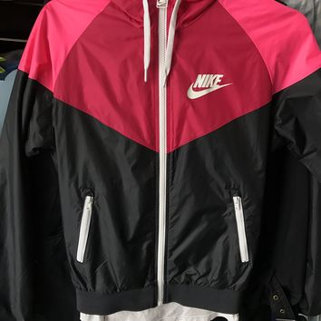 Nike Rose Red Hooded Jacket Windbreaker
