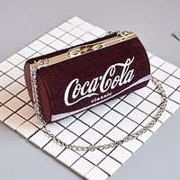 Coca-Cola Women Trending Shopping Shoulder Bag Crossbody Satchel Bag Red