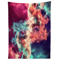 Caleb Troy Yin Yang Painted Clouds Tapestry