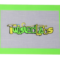 "Twisted Labs 12"" X 8.5"" Dab Mat Green Border"