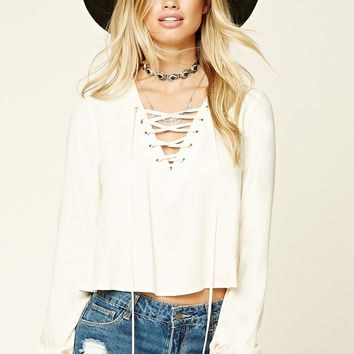 Contemporary Lace-Up Top