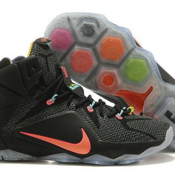 2018 Purchase Lebron 12 Data Black Crimson Brand sneaker