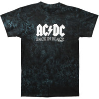 AC/DC Men's  Back In Black Tie Dye T-shirt Multi