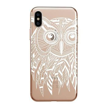 Henna Ethnic Owl - iPhone Clear Case