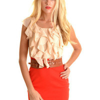Colette Dress Orange - Online Shopping for Dress, Shop Dresses in Singapore & International