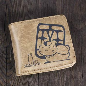 Women&Men Fashion Cute Cartoon Wallet One Pieces Tokyo Ghoul Attack on Titan Classroom DOTA 2 LOL Totoro Card Holder Short Pures