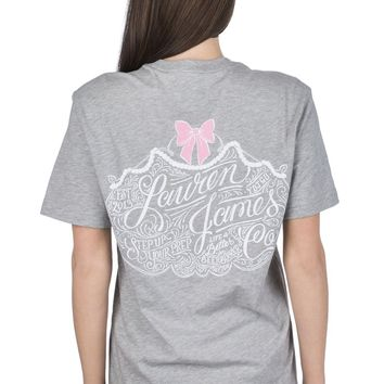 Lauren James Etiquette Tee - Heather Grey