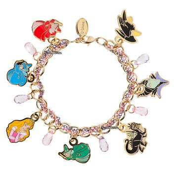 Licensed cool NEW Disney Store Princess Aurora Sleeping Beauty Maleficent Charm Bracelet Set