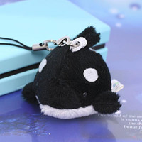 Soft and Downy Mini Animal Stuffed Toy Cell Phone Strap (Killer Whale)