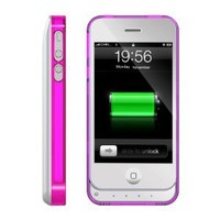 ICLiC 30 pin Apple iPhone 4 4S External Extend Battery Case Cover bumper 1450mAh White