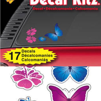 Flower Butterfly Car Decal Kit