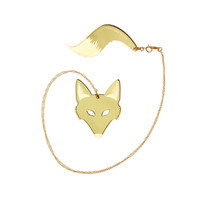 I liked this design on #Fab. Fox & Tail Necklace