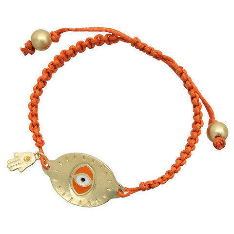 Pree Brulee - Orange Evil Eye Bracelet