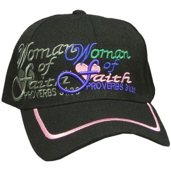 Texcyngoods Woman of Faith Hat Womens Christian Headwear
