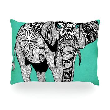 "Pom Graphic Design ""Elephant of Namibia Color"" Oblong Pillow"