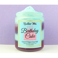 Birthday Cake Layered Whipped Soap Fluff 8oz