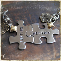 Best Friend Personalized Keychain set, Puzzle Piece, Gift for Friend, BFF, Friendship Gift, Couples, Sisters, Valentines