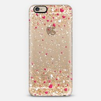 Gold Pink and White Love Confetti Explosion iPhone 6 case by Organic Saturation | Casetify