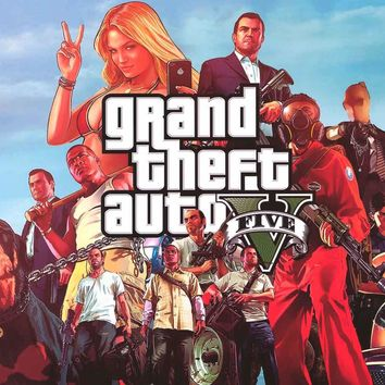 Grand Theft Auto V Video Game Poster 24x36