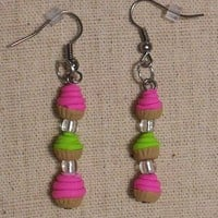 Pink And Lime Green Butter-cream Cu.. on Luulla