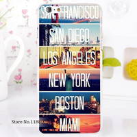 san francisco san diego los angeles new york boston miami For iPhone 6 6s 6g iphone 6+ 6 plus Transparent Case Hard Clear Cover