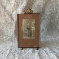 LARGE French antique ormolu photo frame, art nouveau, French vintage photo frame, chateau chic, ornate photo frame, shabby chic frame
