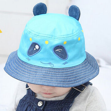 So Cute Kids Panda Shape Fisherman Cap Comfortable Hot Summer Gift 45