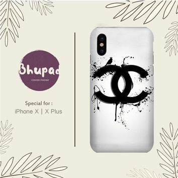 COCO CHANEL LOGO DRIPS IPHONE X