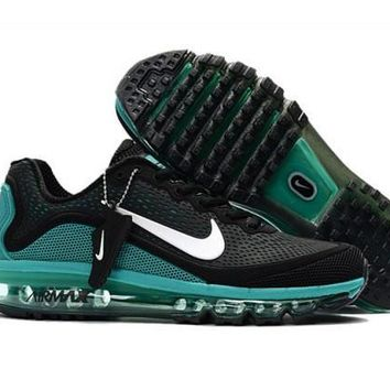 Nike Air Max 2017. 5 KPU Black, Green & White Men's Running Shoes Sneakers