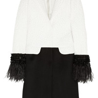 Giambattista Valli | Feather-trimmed matelassé and cashmere coat | NET-A-PORTER.COM
