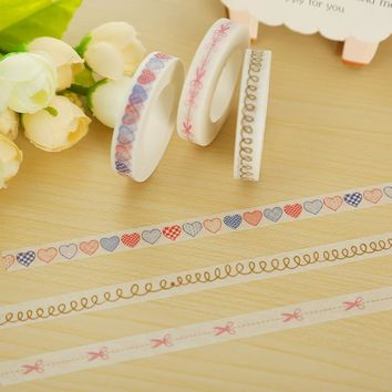 1 x 0.8cm split line washi tape DIY decoration scrapbooking planner masking tape adhesive tape kawaii stationery
