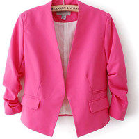 Ruched Long Sleeve Blazer Suit