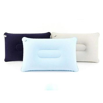 1pc Outdoor Portable Folding Air Inflatable Pillow