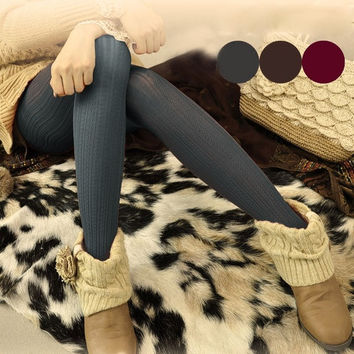 Hot Women Winter Warm Leggings Slim Stretch Footed Tights Pants Pantyhose  7_S = 1916813572