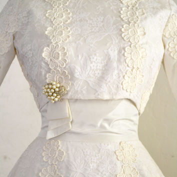 1950s Wedding Dress Ivory Lace Miss Betsy