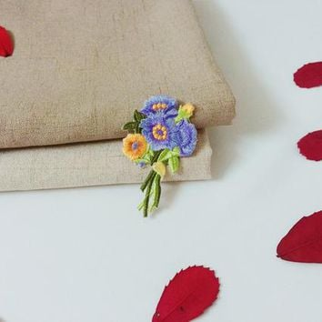 gorgeous flower patch-bouquet patch-rose-iron on patch-embroidered patch-patch for jacket -patch for backpack-DIY embroidery -applique