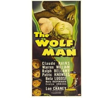 The Wolf Man Movie Poster - universal monsters Lon Chaney Bela Lugosi claude Rains- cross stitch pattern - instant PDF download