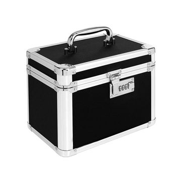 Locking Personal Security Box 10 x 7.75 x 7.25 Inches Black