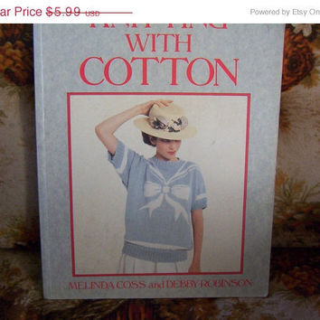 ON SALE Vintage Knitting with Cotton Sweater Pattern Book for Men, Women and Children