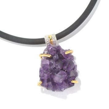 Michael Valitutti Amethyst Druzy Pendant | Overstock.com Shopping - The Best Deals on Gemstone Necklaces