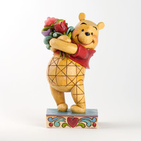 disney traditions winnie the pooh with flowers valentine jim shore new with box