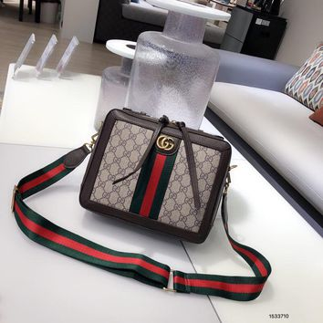 Gucci Women Fashion Leather Satchel Bag Shoulder Bag Handbag