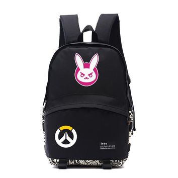 2017 New anime backpack game OW character DVA/D.VA/HANA SONG backpack game concept gift for student daily use gamer gift NB002
