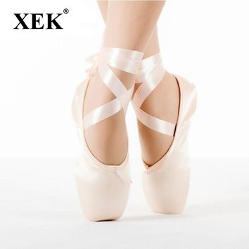 2017 Child and Adult ballet pointe shoes ladies professional ballet shoes with ribbons shoes woman dance shoes