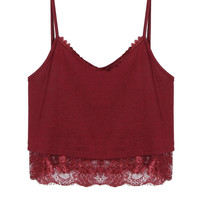Red Lace Trim Cami