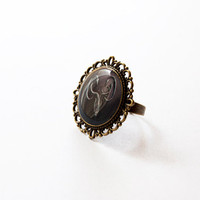 House Greyjoy of Pyke Crest - Greyjoy Ring - Game of Thrones Jewelry - A Song of Ice and Fire - Handmade Vintage Cameo Ring