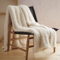Faux Fur Sheepskin Throw