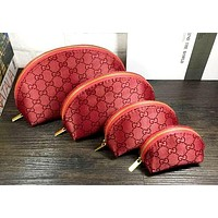 Gucci Fashion lady handbag Cosmetic bag-small purse - four-piece suit Red