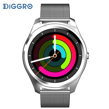 Diggro DI03 Smart Watch Bluetooth 4.0 Heart Rate IP67 Waterproof MTK2502 Siri Call SMS Reminder Pedometer For Android IOS