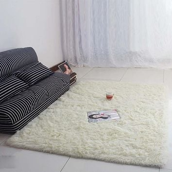 Fluffy Rugs Anti-Skiding Shaggy Area Rug Dining Room Carpet Floor Mats shaggy rugs shag rugs